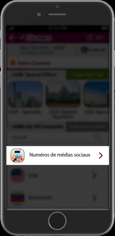numéros de médias sociaux ajoutée pour une meilleure confidentialité