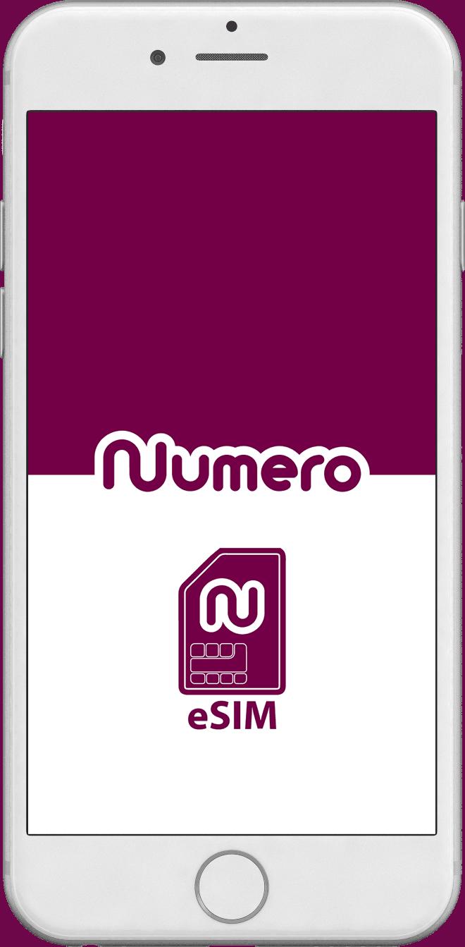 Numero eSIM app for vritual second phone number