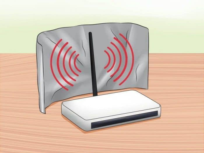 Kitchen foil trick to extend router signal range