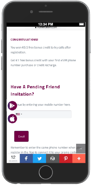 Activate your friend invitation and earn extra credit