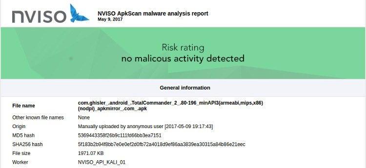 NVISIO détecte les logiciels malveillants dans les fichiers APK