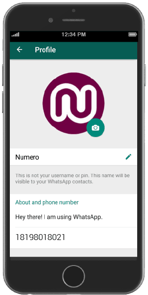 Your WhatsApp virtual number after verification