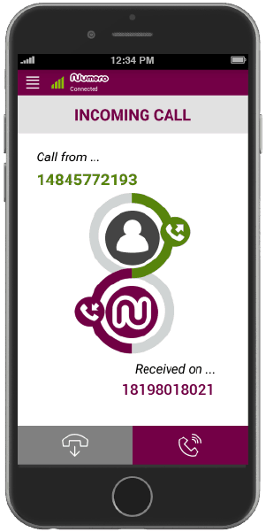 Receiving a call on virtual number WhatsApp by Numero eSIM