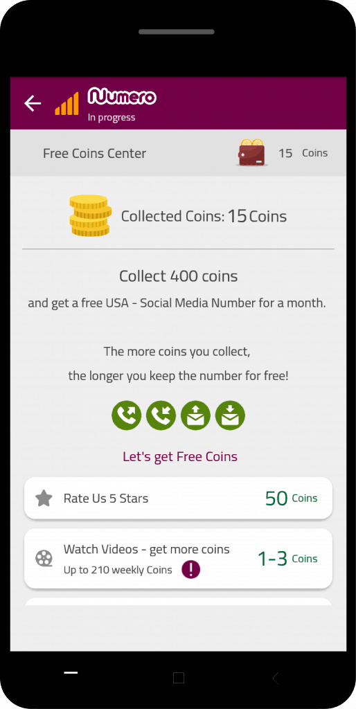 your Numero esin free coins points