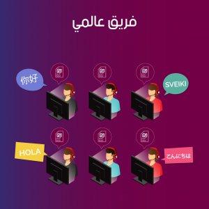 فريق خدمة عملاء عالمي مع ميزة استخدام رقم اجنبي