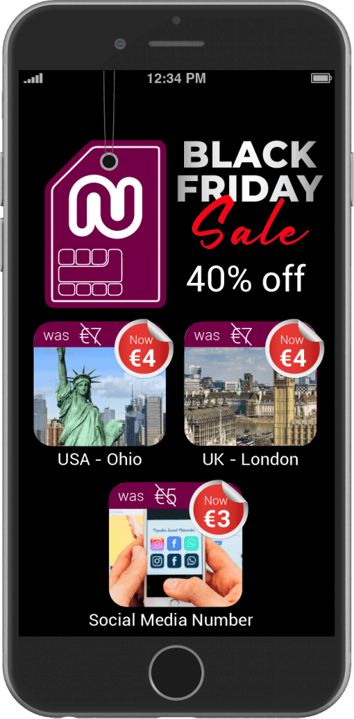 Numero eSIM Black Friday Deals On Virtual Phone Numbers