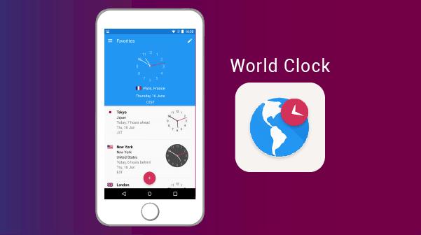 Apps for Expats AR 11World Clock الساعة العالمية - افضل تطبيقات الاندرويد والايفون