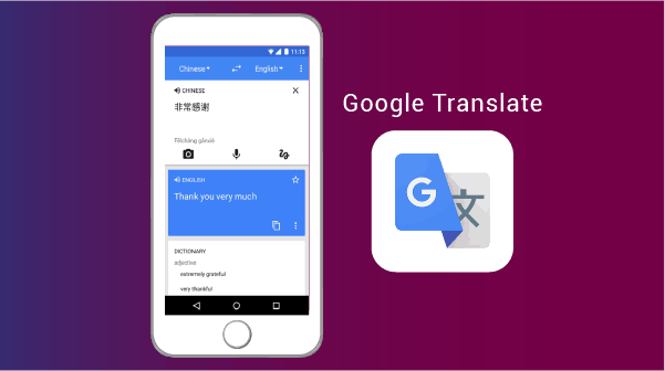 Google Translate - best apps for living abroad