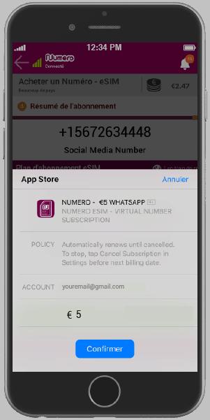 Payer avec Apple Pay - cliquez sur confirmer pour confirmer.