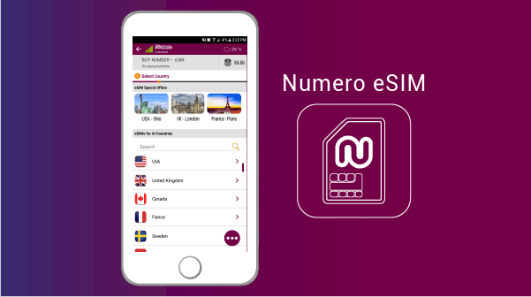 Numero eSIM - virtual mobile phone number app