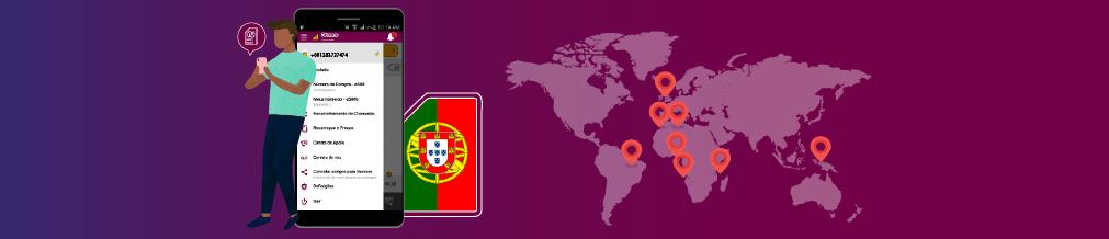 برنامج نوميرو إي سيم يدعم الآن رسمياً اللغة البرتغالية ضمن 5 لغات متاحة في التطبيق
