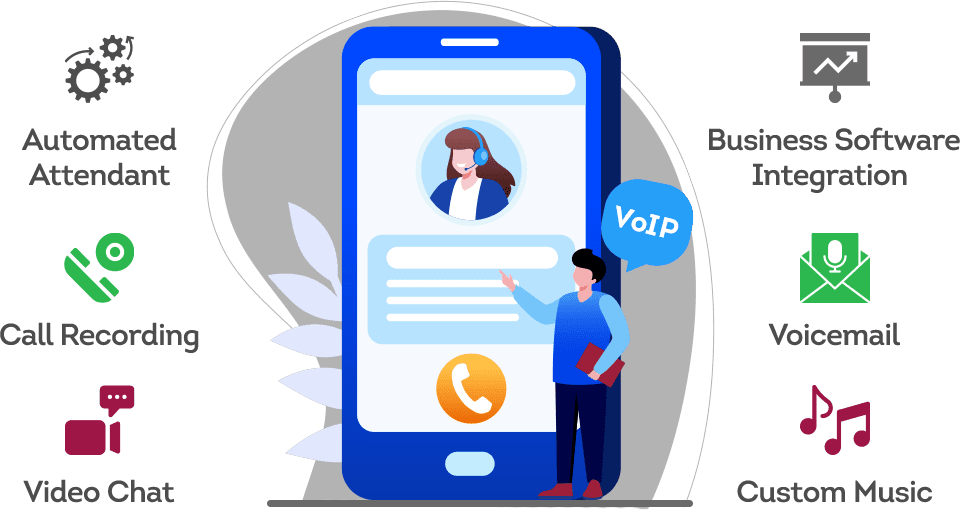 voip vs landline: VoIP Features