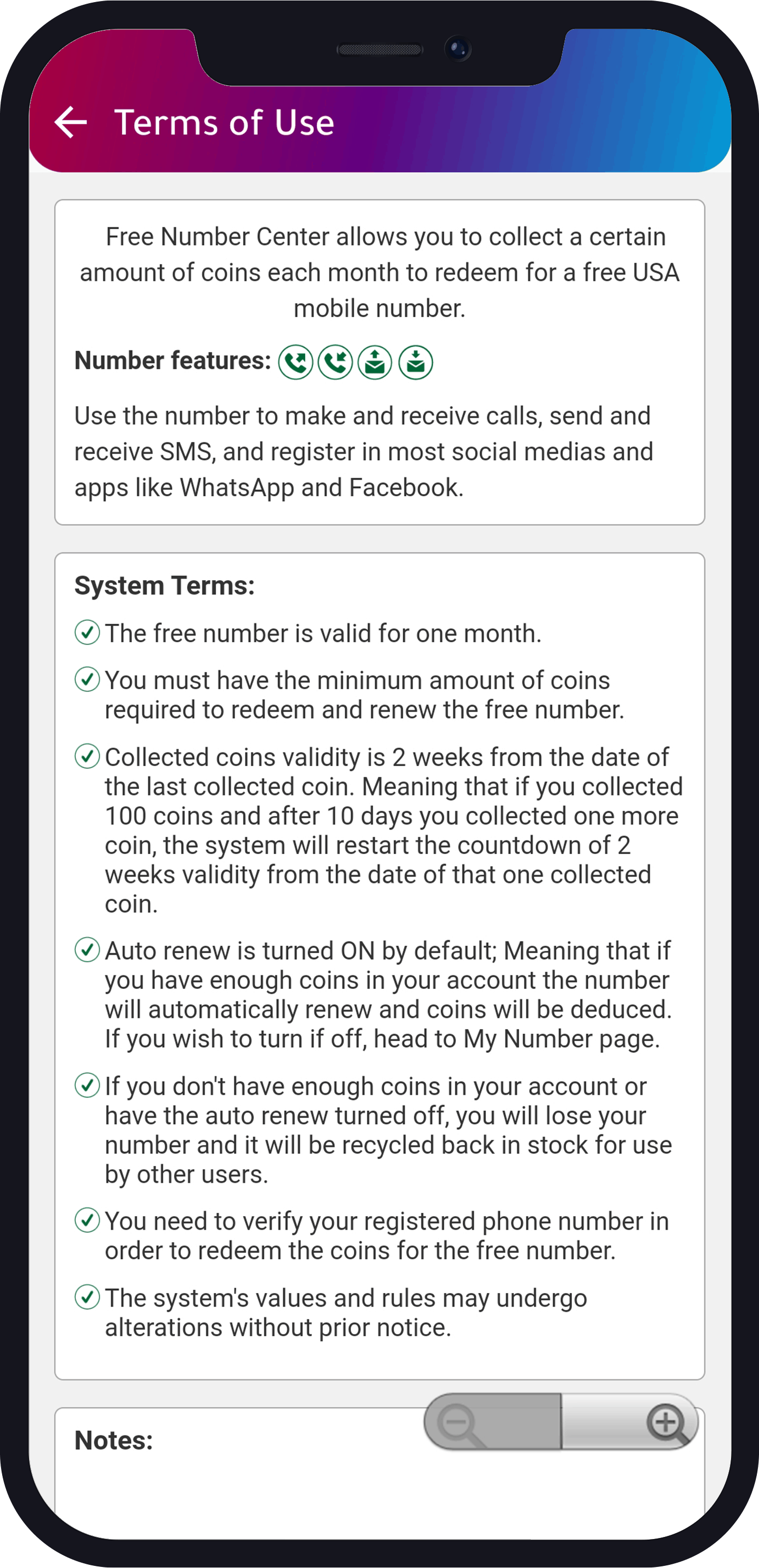 Coins center terms of use