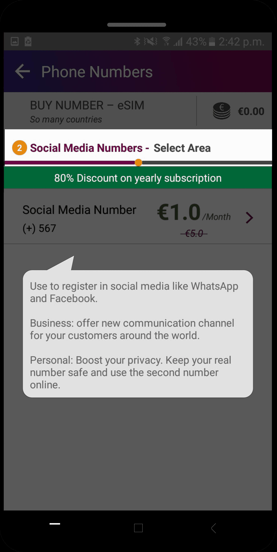 social media number