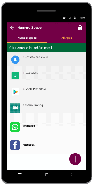 Numero space to clone apps for Android