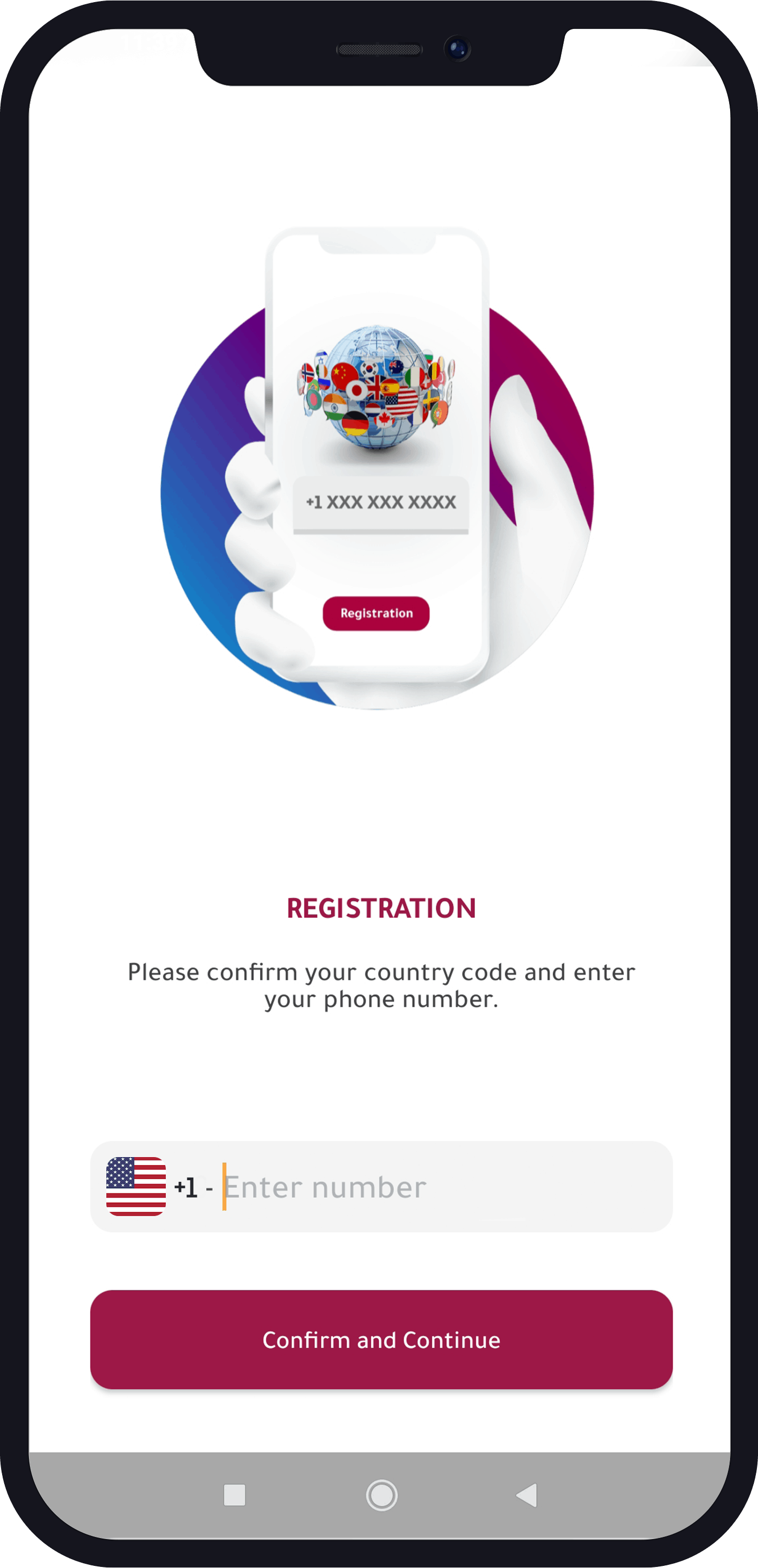 how to register in Numero app