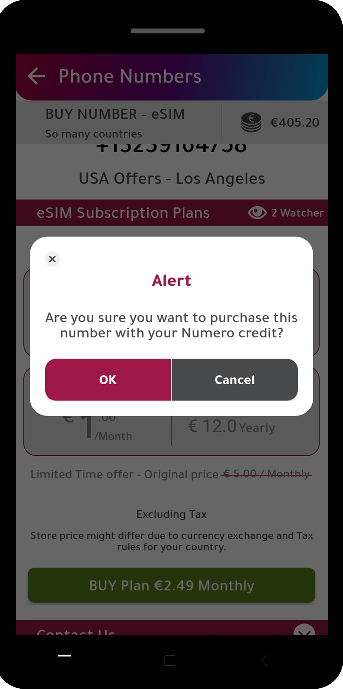 numero balance as a payment method