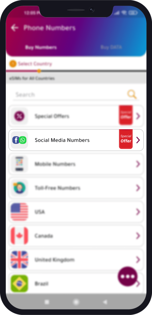 how to get a virtual phone number and social media number