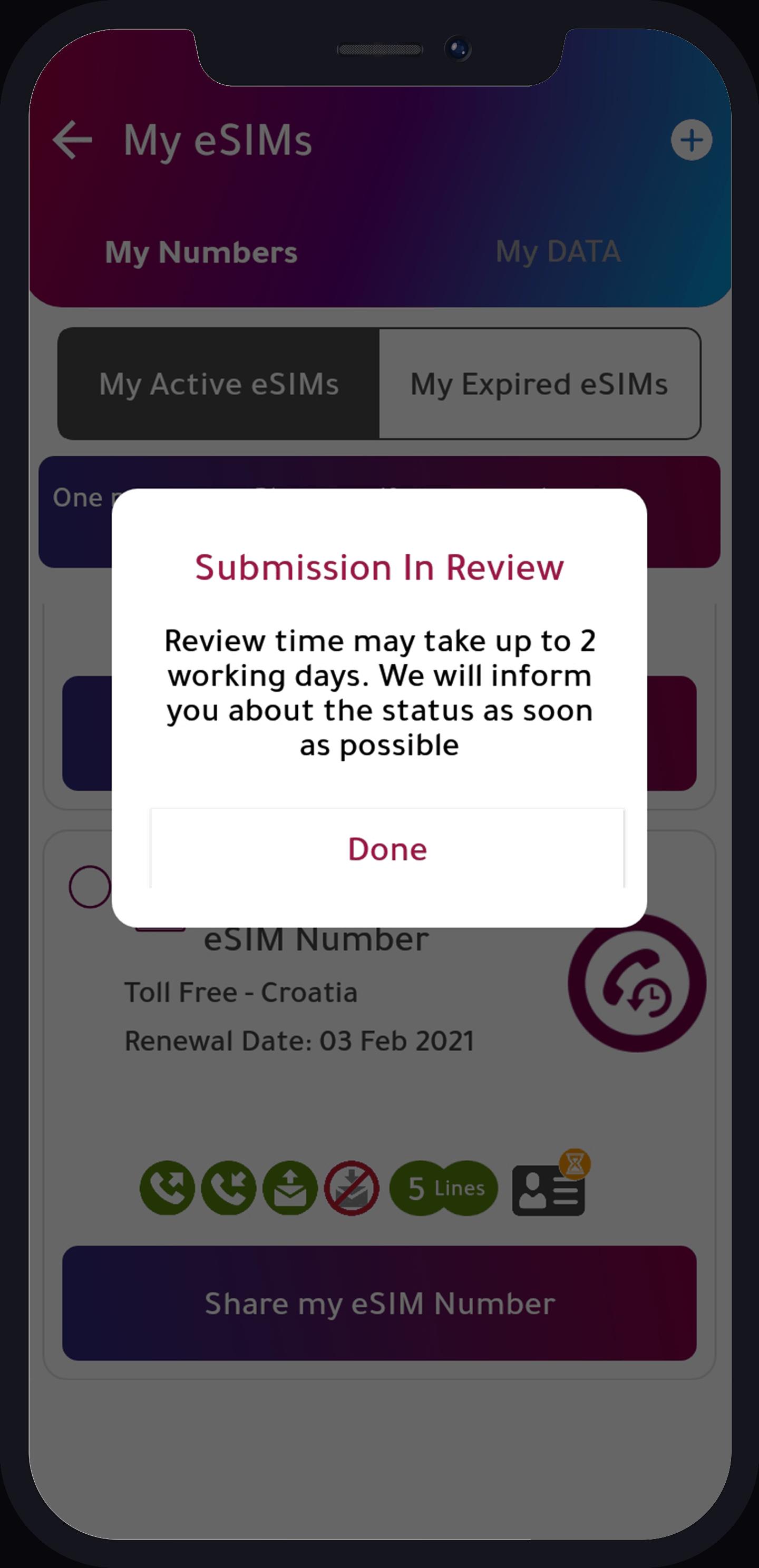 In review status
