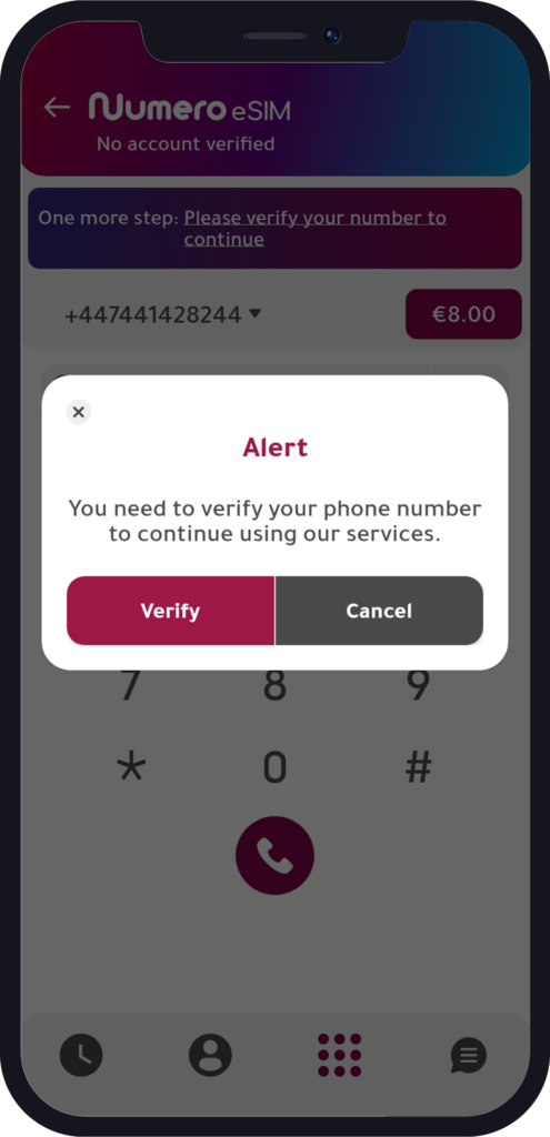 verify your number