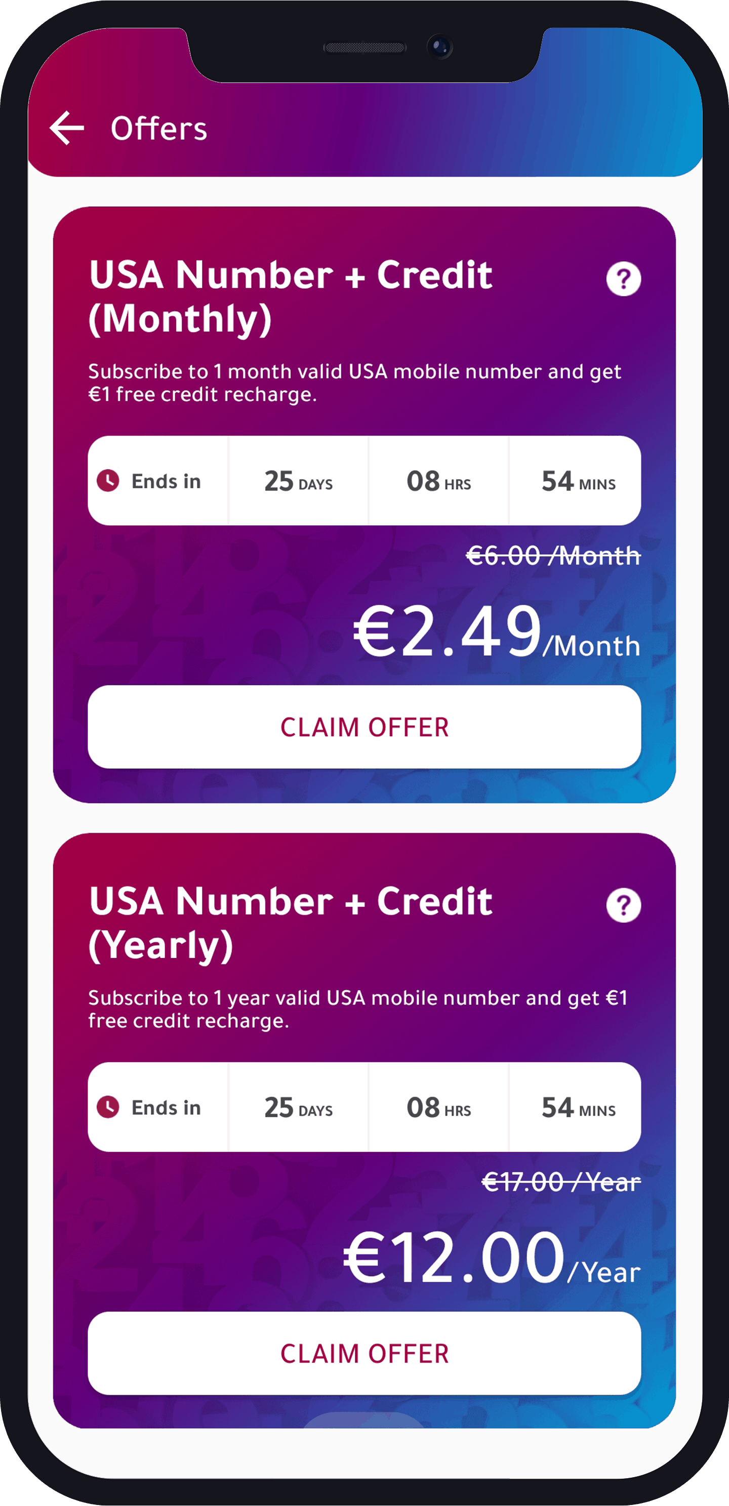 Offer page
