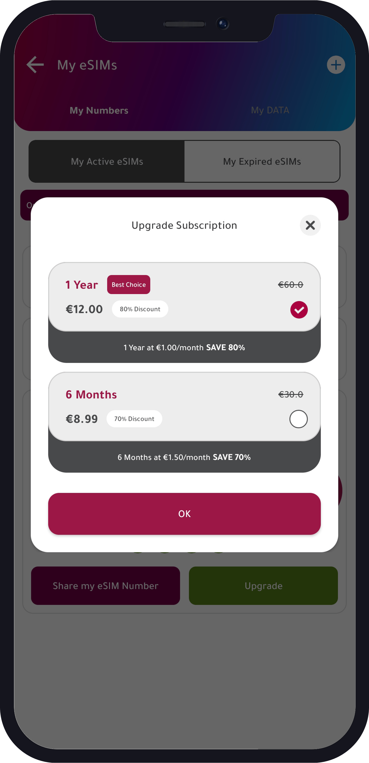 usa number subscription options