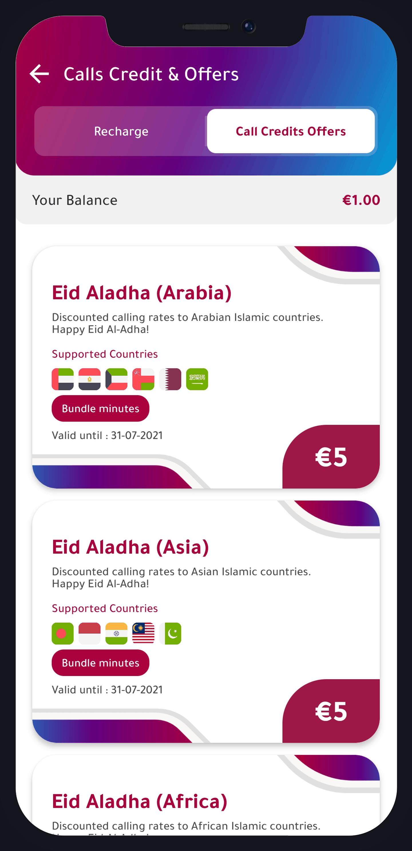 Eid Al-Adha Call Offers
