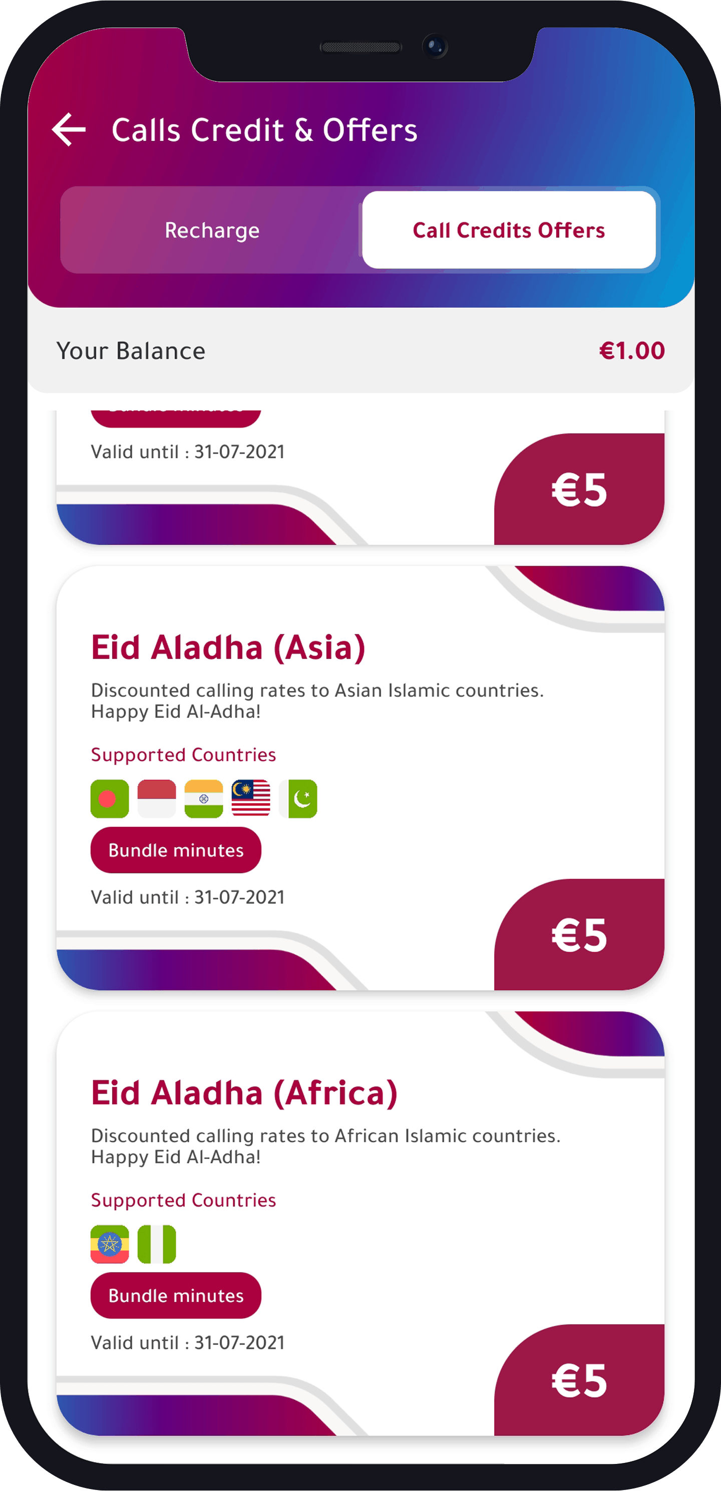 Eid Al-Adha Call Offers from Numero
