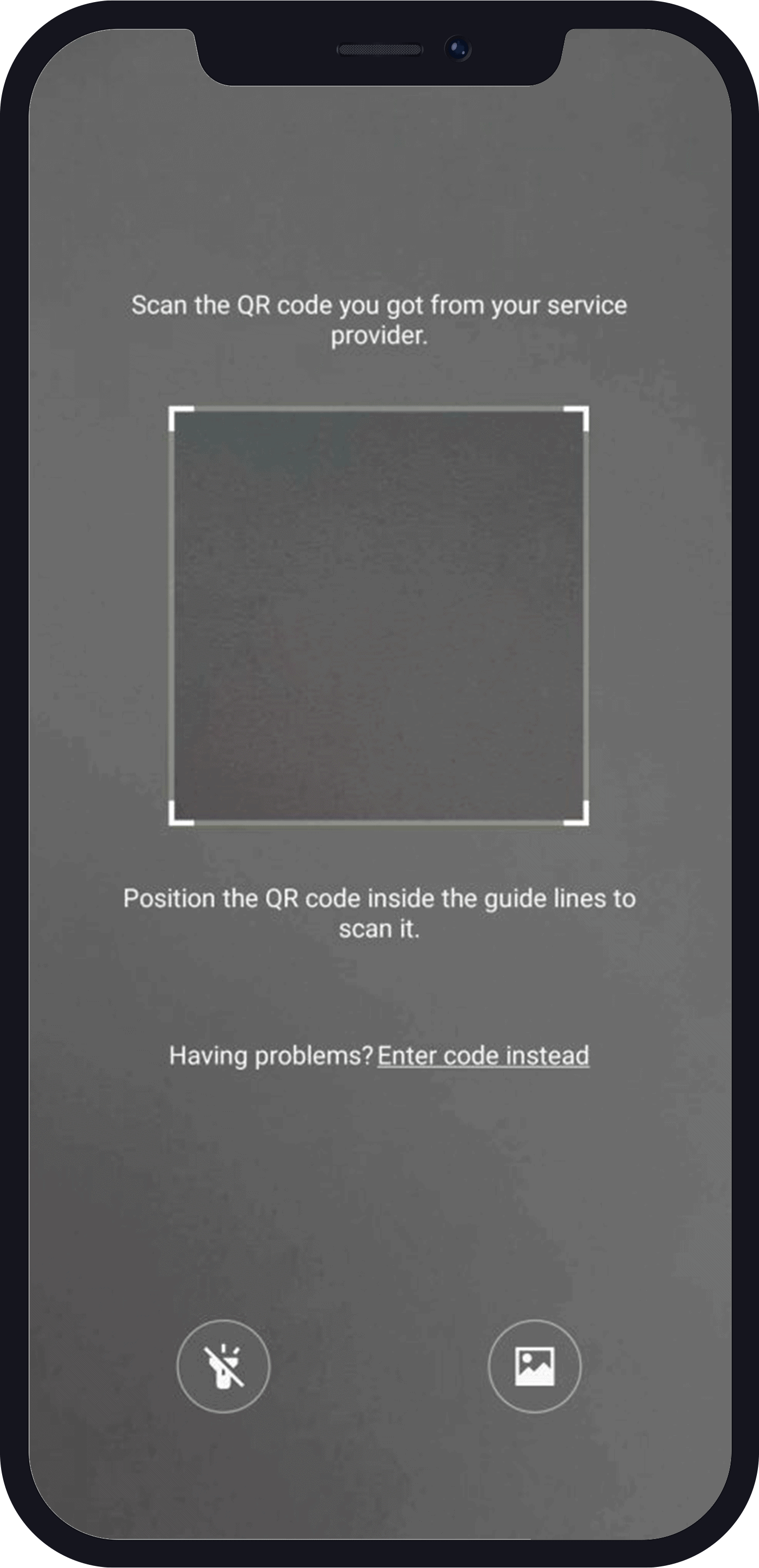 Scan Carrier QR code to activate on esim samsung